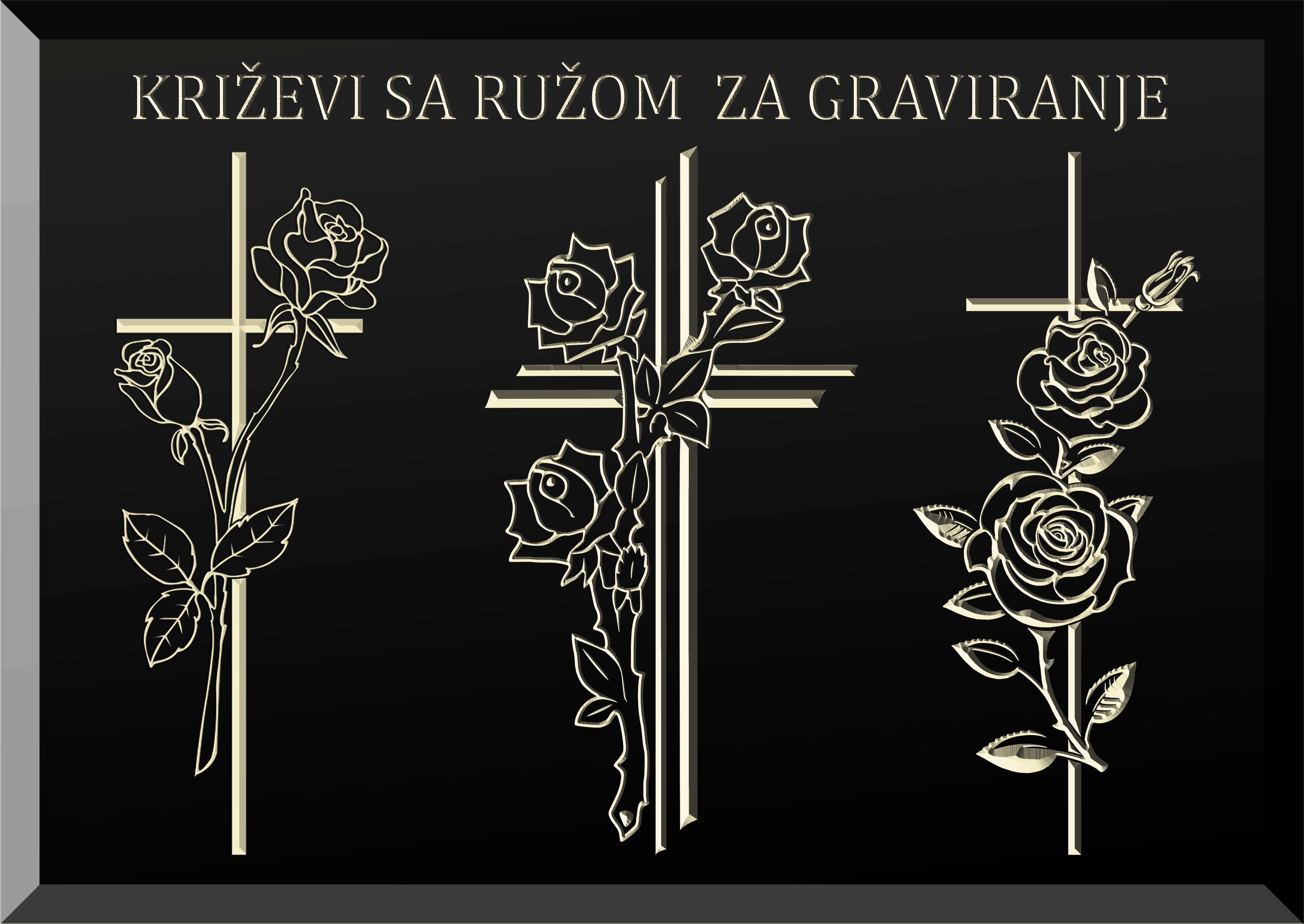 Križ, Ruža, Spomenik